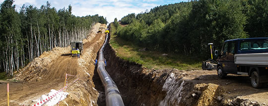 Gas pipeline DN 1400 GAZELLE in Krušné hory (in the Ore Mountains)